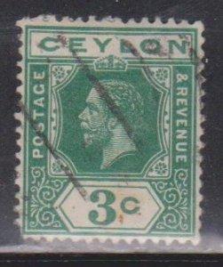 CEYLON Scott # 202a Used - King George V