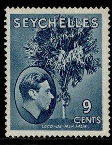 SEYCHELLES GVI SG138ab, 9c grey-blue, M MINT. Cat £25. ORDINARY PAPER