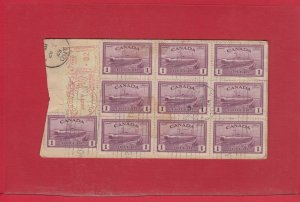 10x $1.00 Ferry + meter on RPO BANK Money Tag Registered Canada cover