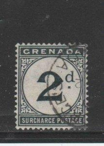 GRENADA #J2   1892  2p  POSTAGE DUE  F-VF  USED