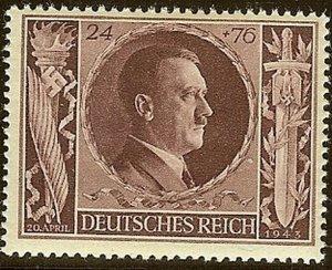 Stamp Germany Mi 844-9 Sc B231-6 1943 WWII 3rd Reich Adolf Birthday MH