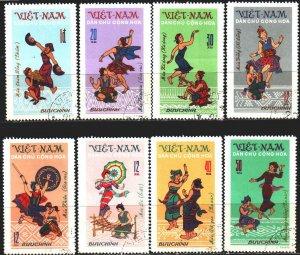 Vietnam. 1972. 709-16. Folk dances, costumes. USED.