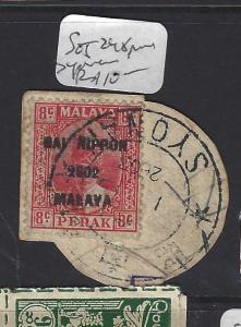 MALAYA JAPANESE OCCUPATION PERAK (P2108BB) 8C DN SG J248 PIECE SYONAN VFU
