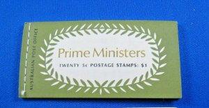 AUSTRALIA 1969 COMPLETE MNH STAMP BOOKLET - PRIME MINISTERS    (kbabk2)