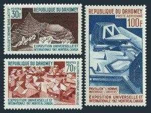 Dahomey 235-236,C57,C57a,MNH.Mi 290-292,Bl.6. EXPO Montreal-1967.Pavilions.Space