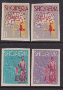1962 Albania Tourist Propaganda complete imperf set MLH Sc# 630 / 633 CV $35.00