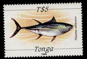 TONGA QEII SG1017, 5p yellow-finned tuna, NH MINT. Cat £13.