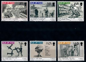 Isle of Man --2011- Caricatures by Dusty MNH  set # 1436-1441