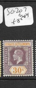 MALAYA STRAITS SETTLEMENTS (P0905B)  KGV  30C  SG 207   MOG