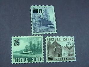 NORFOLK ISLAND # 26-28 -MINT NEVER/HINGED-COMPLETE SET---QEII----1960