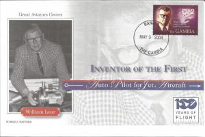 100 Years Of Flight First Day Cover William P. Lear 2004 Gambia Z5505