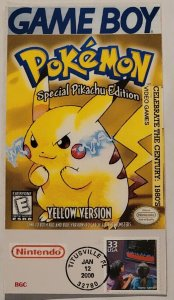 US VIDEO GAMES CELEBRATE EIGHTIES FIRST DAY COVER BGC CACHET. Pikachu Pokemon