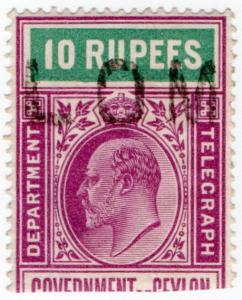 (I.B) Ceylon Telegraphs : 10R (Colombo)