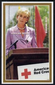 Burkina Faso 1997 Princess Diana #3 perf m/sheet unmounte...
