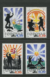 STAMP STATION PERTH Faroe Is.#370-373 Pictorial Definitive  MNH 2000 CV$12.00