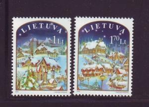 Lithuania Sc754-5 2003 Christmas stamps NH