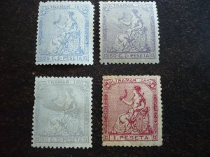 Stamps - Cuba - Scott# 59-62 - Mint Hinged - Partial set of 4 Stamps