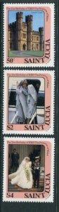 St Lucia #591-3 MNH
