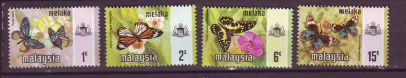 J18024 JLstamp  [low price] 1971 malaya malacca from set mh #74//79  butterflies