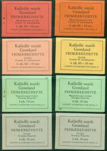 GREENLAND Private Stamp Booklets DAKA #1-16, Complete set, scarce, Daka $1,335.