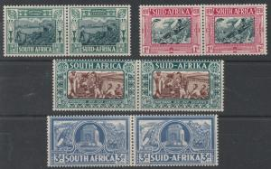 SOUTH AFRICA 1938 VOORTREKKER SET PAIRS