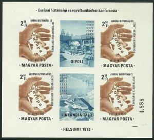 Hungary - Scott 2239a var Mini Sheet VF MNH