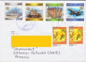 VERY RARE IRAQ LETTER COVER TO NAGORNO KARABAKH ARMENIA MILITARY ARMY R17015