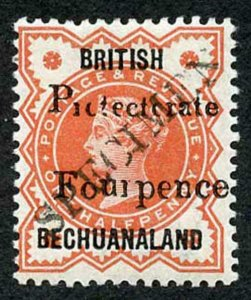 BECHUANALAND SG53s 1889 4d on 1/2 type 15 surcharge Opt SPECIMEN
