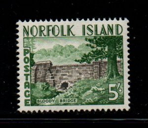 Norfolk Island Sc 18 1953 5/ Bloody Bridge stamp mint NH