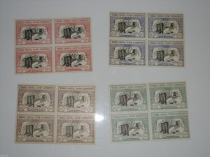 BALISEA 1934 Brooklyn Bridge Poster Stamps Stamp Exhibition Show Blocks of 4