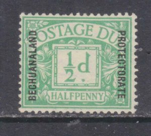 BECHUANALAND, POSTAGE DUE, 1926 on GB, 1/2d. Green, mint no gum.