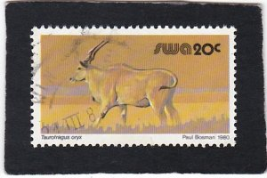 South West Africa,  #   458   used