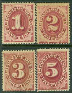 EDW1949SELL : USA 1891 Sc #J22-25 Mint Original Gum. Minor back faults. Cat $230