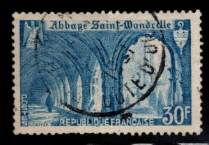 FRANCE Scott 649 Used 1951 Abbey stamp