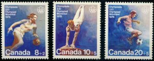 Canada SC# B10-12 Olympics set MNH