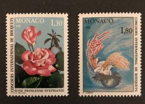 Monaco 1980 #1252-53, MNH, CV $2.50