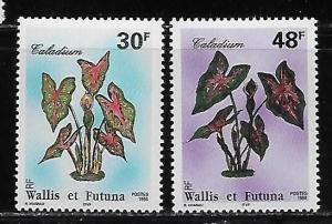 Wallis and Futuna Islands 484-85 Local Plants set MNH