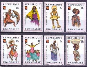 Rwanda. 1975. 766-73. Folk costumes. MNH.
