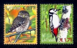 Latvia Sc# 935-6 MNH Birds of Latvia