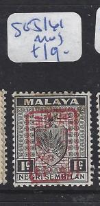 MALAYA JAPANESE OCCUPATION NS (PP1309B)  1C RED CHOP SG J161   MOG