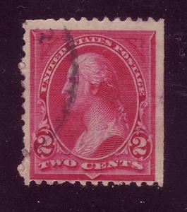 249 Used,  2c. Washington,  Type I,  scv: $7.00