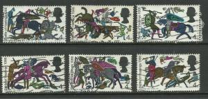 GB 1966 QE2 6 x Anniv Battle of Hastings Stamps ( A1114 )