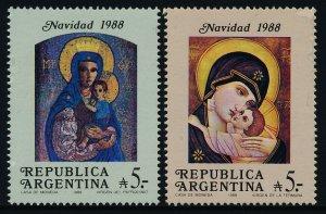 Argentina 1637-8 MNH Christmas, Frescoes
