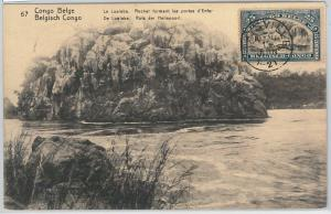 59115 - BELGIAN CONGO - POSTAL HISTORY: STATIONERY CARD / Maximum  WATERFALLS