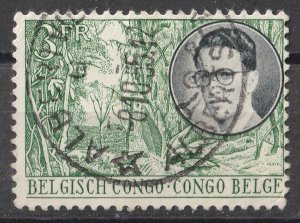 Belgian Congo 1955 King Baudouin and various Designs 3F (1/4) USED