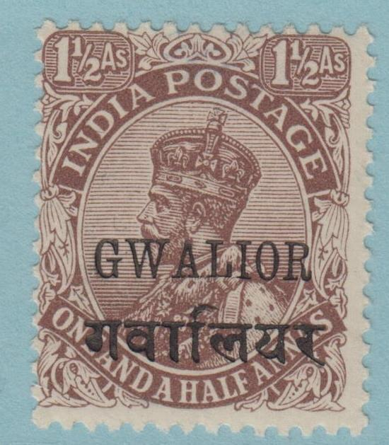 INDIA GWALIOR STATE 66 MINT HINGED OG * NO FAULTS EXTRA FINE !