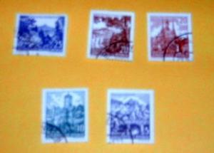 Germany, DDR - 535-39, CTO Set. City Hall, etc. SCV - $1.00