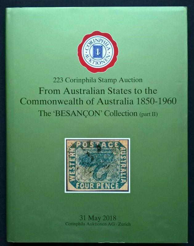 Auction Catalogue AUSTRALIA STATES COMMONWEALTH 1850-1960 BESANÇON Stamps Covers