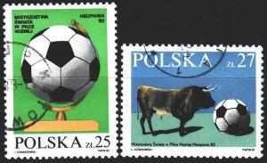 Poland. 1982. 2812-13. Football. USED.