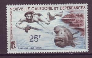 J15889 JLstamps 1962 new caldonia part of set mlh #c31 spearfishing